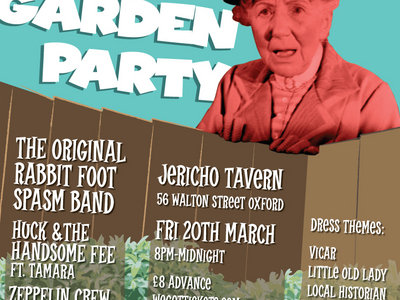 DOOR SALES ONLY - ADVANCED TICKET ALLOCATION SOLD OUT -THE VICAR'S GARDEN PARTY - RABBIT FOOT SPASM BAND LIVE main photo
