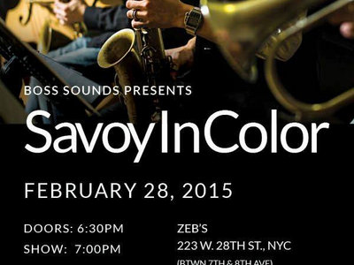 Invite to Savoy In Color at Zeb's Place, New York, Feb 28 2015 main photo