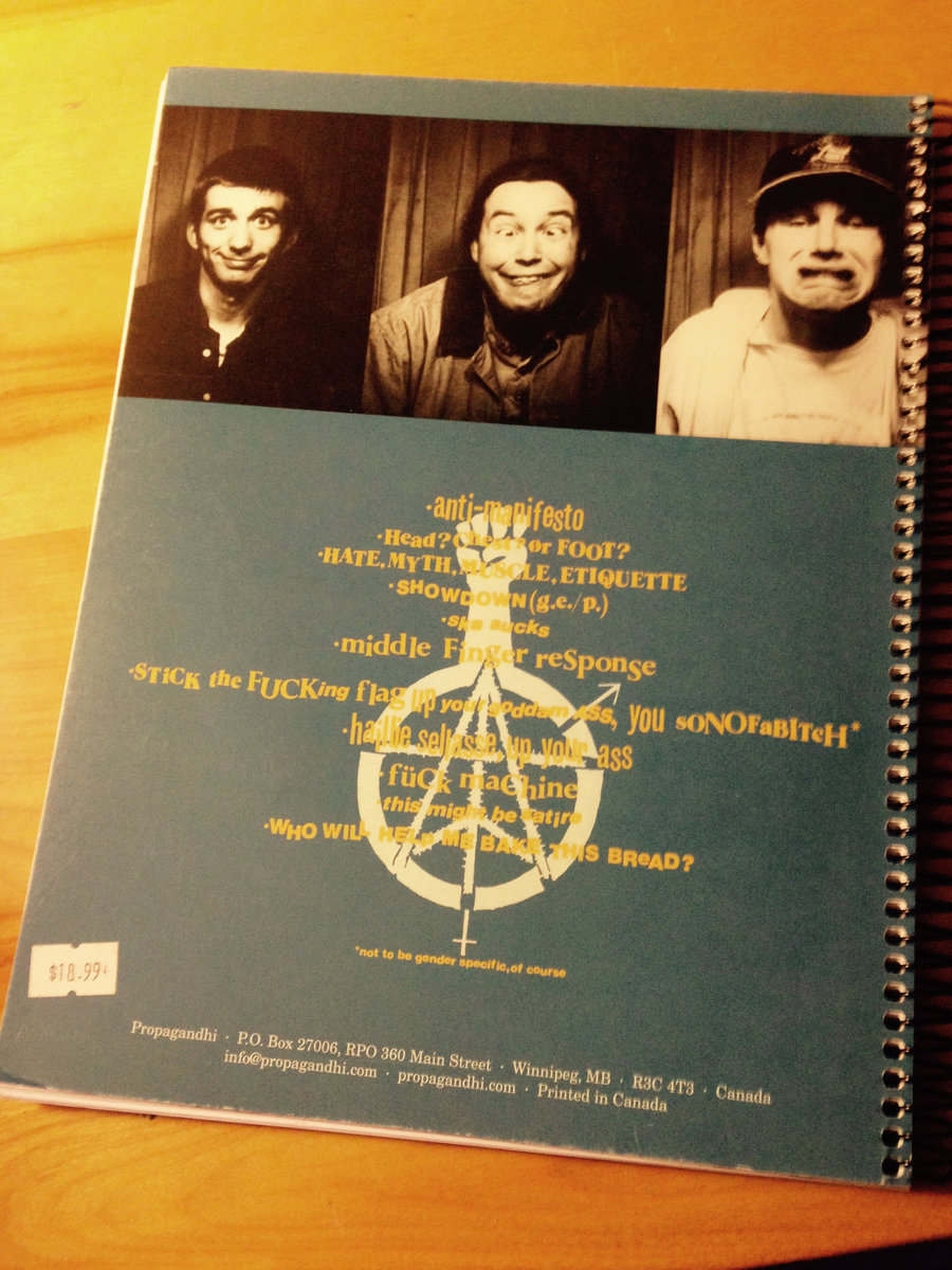 Propagandhi Tab Book
