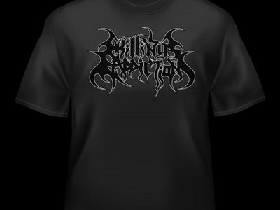 KILLING ADDICTION - Black Logo/Heather Black T-Shirt main photo