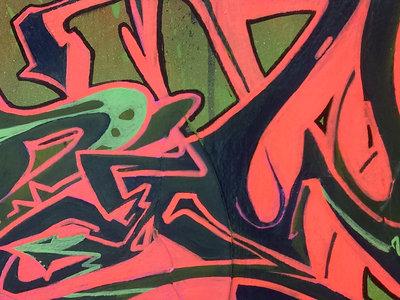 Acrylic/Aerosol/Vinyl/ on a 30 x 45 wooden panel. main photo