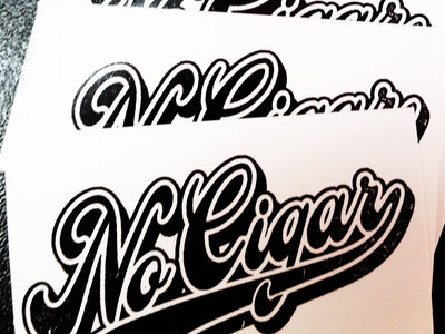 Sticker No Cigar Baseball Logo main photo