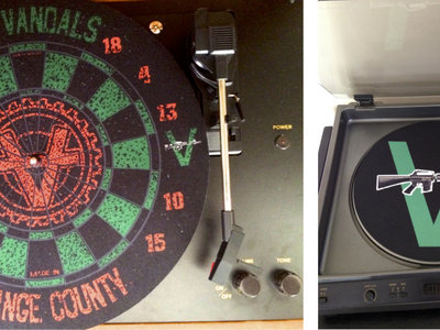 "Vandals 12"" Turntable D.J. Slip Mats: 2 Styles To Choose From! main photo"