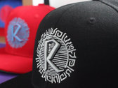 R25 SNAPBACK CAP (Red with Sky Blue) photo