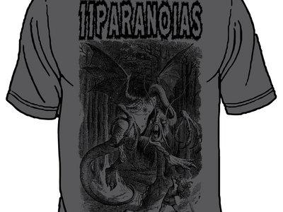 11PARANOIAS 'Alice vs Jabberwocky' Charcoal Grey Tshirt main photo
