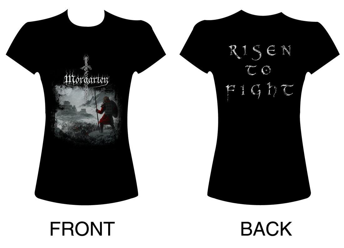 Shirt design womens - Morgarten Women T Shirt Risen To Fight Main Photo