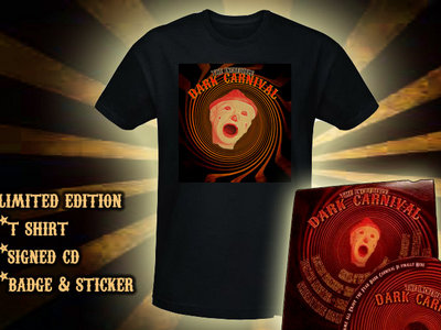 T Shirt, Signed CD, badge and sticker pack main photo