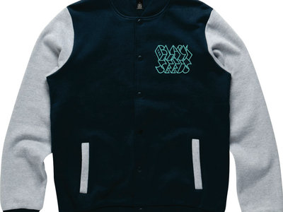 Embroidered Varsity Jacket, Navy/Grey Marle - LIMITED main photo