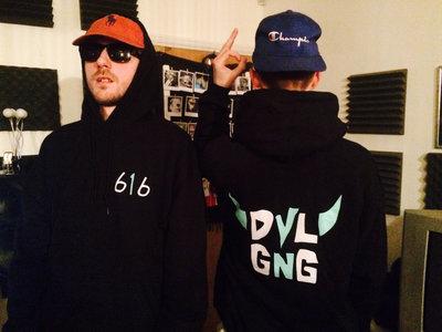 DVLGNG 616 Hooded Sweatshirt. BLACK. main photo