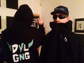 DVLGNG 616 Hooded Sweatshirt. BLACK. photo