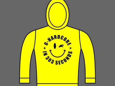 0-HARDCORE IN 303 SECONDS - Unisex Hoodie - Yellow - Various Sizes main photo