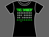 FACE INVADERS - T-Shirt - Black - Mens (Unisex) / Womens (Ladyfit) - Various Sizes photo