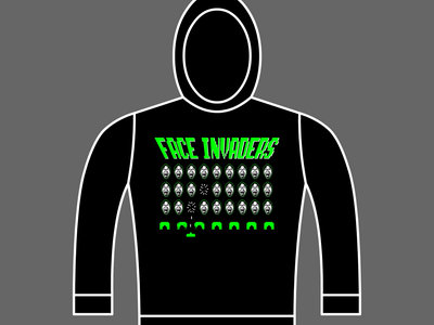FACE INVADERS - Unisex Hoodie - Black - Various Sizes main photo