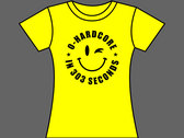 0-HARDCORE IN 303 SECONDS - T-Shirt - Yellow - Mens (Unisex) / Womens (Ladyfit) - Various Sizes photo