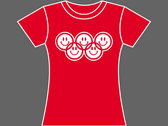 SMILEY RINGS / OLYMPIACID - T-Shirt - Womens (Ladyfit) - Various Sizes & Colours photo