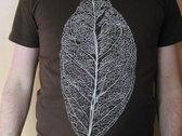 Decayed Leaf T-Shirt - dark brown photo