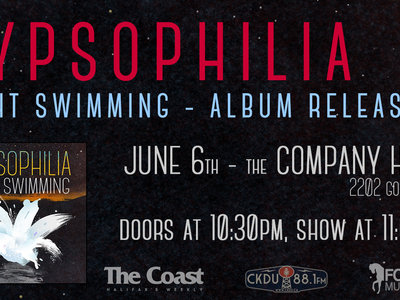 'Night Swimming' Album Release Show - June 6th (dance party - 10:30pm) main photo