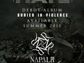 """""""BURIED IN VIOLENCE"""" - Limited Edition Signed Tour Laminate Pre-order photo"""