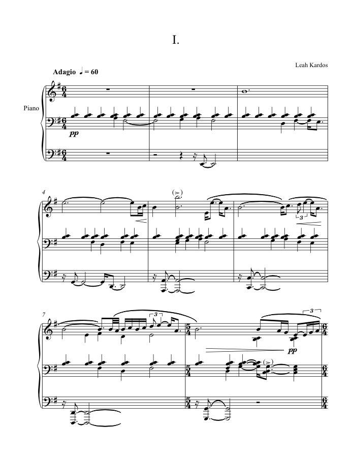 Three Preludes - Sheet Music (A4 PDF) | bigo & twigetti