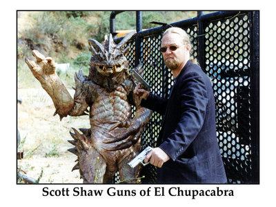 Scott Shaw Guns of El Chupacabra Signed Photograph. main photo