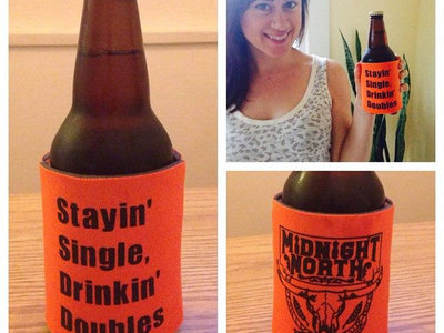 """Stayin' Single, Drinkin' Doubles"" Beverage Koozie main photo"