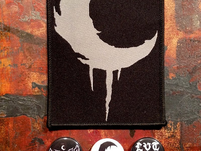 Leviathan Crescent Moon Embroidered Patch, 3 Buttons& 3 stickers main photo