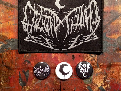 LEVIATHAN Original logo Embroidered Patch, 3 Buttons & 3 Stickers main photo