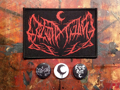 LEVIATHAN Original Logo Red Embroidered Patch, 3 Buttons & 3 Stickers main photo