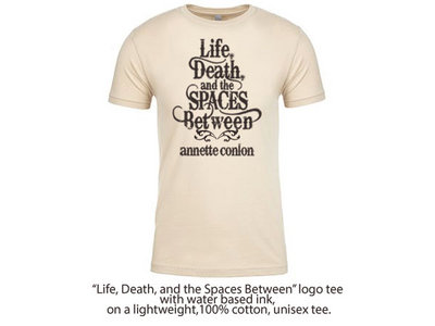 """Life, Death, and the Spaces Between"" logo tee main photo"