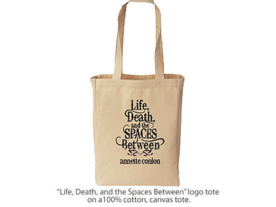 """Life, Death, and the Spaces Between"" logo tote main photo"