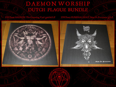 LP bundle: FUNERAL GOAT - Mass Ov Perversion & SAURON - The Channeling Void (Gatefold LPs) main photo
