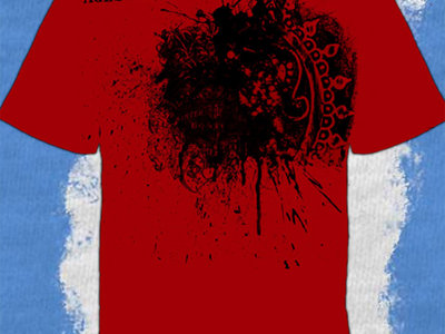Red Graphic Splatter T main photo