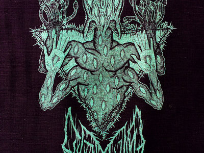 "Blue Glow in the Dark ""Scar Sighted"" Back Patch / Tapestry main photo"