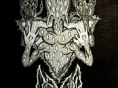 """White Glow in the Dark LEVIATHAN """"Scar Sighted"""" Back Patch / Tapestry main photo"""
