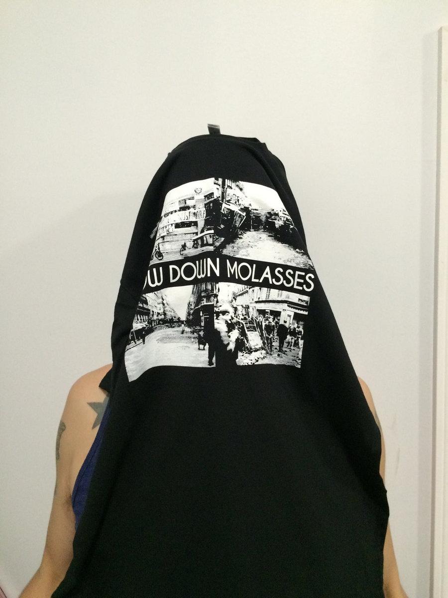 slow down molasses burnt black cars album art t shirt only