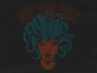 "Well Hung Heart - ""Medusa"" Tee in VINTAGE WASH on GRAY Tee (Limited Edition) (10 Left - L & XL only) main photo"