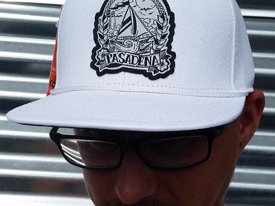 White Pasadena 'Sailboat' Hat main photo