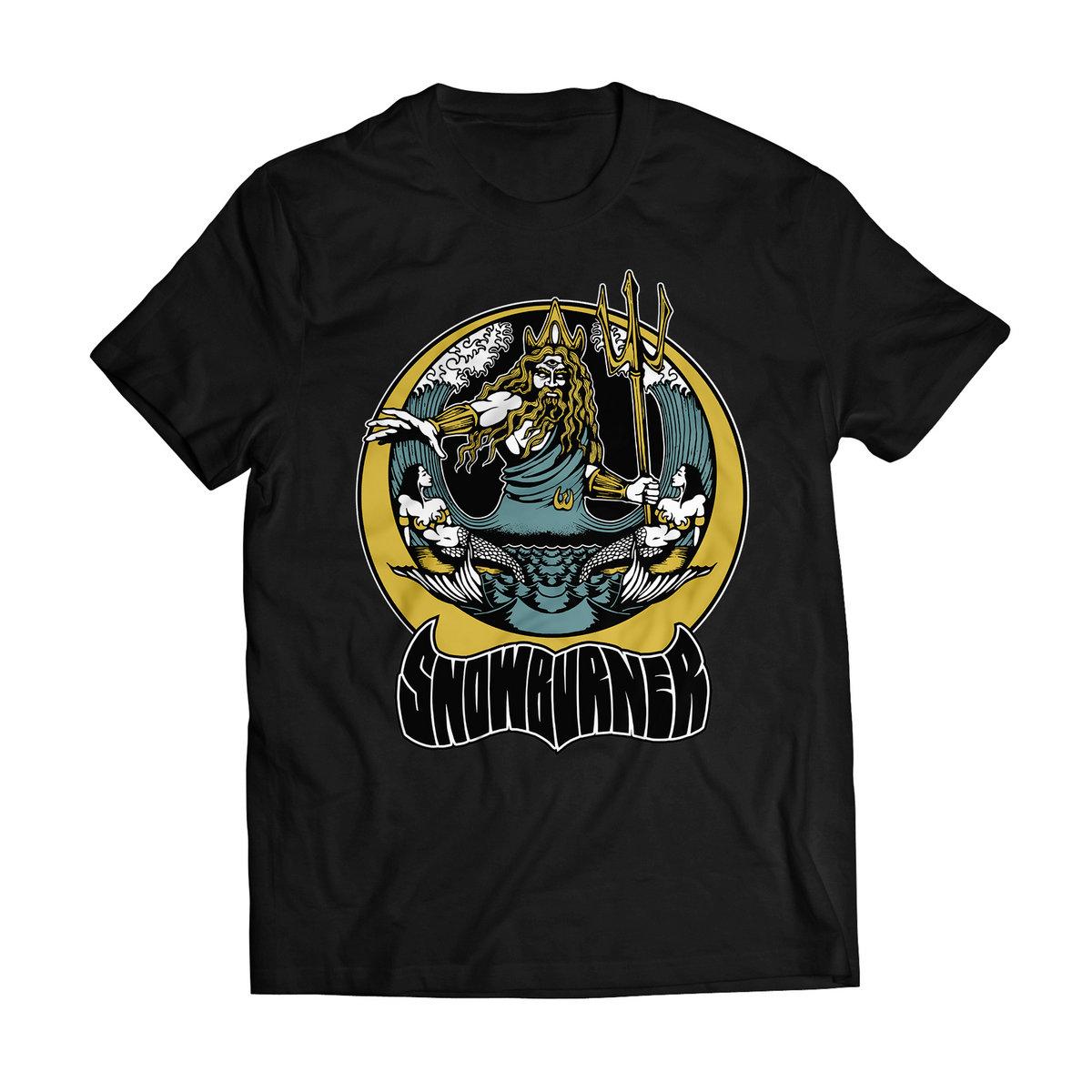 Poseidon Design T Shirt Black Snowburner