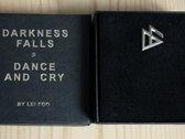 """Silver Badge """"Darkness Falls by Lei Foo"""" to wear as pin or ear-wear photo"""