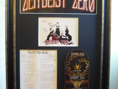 Ghosts Of Victory Signed Framed Photo Frame with handwritten song lyrics. main photo