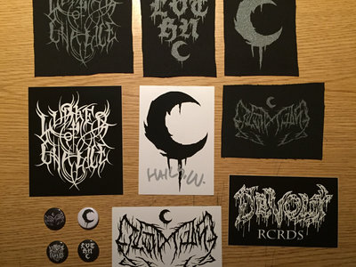 4 Screen Printed LEVIATHAN & LURKER of CHALICE Patches & 4 Buttons + 4 stickers main photo