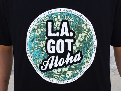 """LA Got Aloha Full Circle"" Tee (Mens) Black main photo"