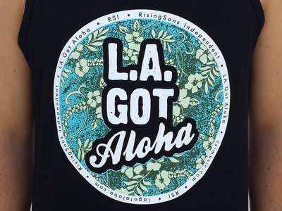 """LA Got Aloha Full Circle"" Tank (Mens) Black main photo"