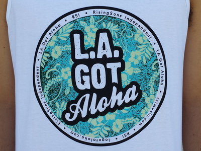 """LA Got Aloha Full Circle"" Tank (Mens) White main photo"