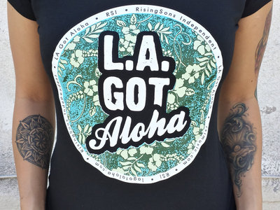 """LA Got Aloha Full Circle"" Tee (Womens) Black main photo"