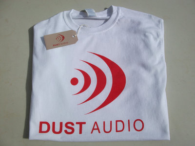 Dust Audio Limited Edition T-Shirt - White / Red Logo main photo