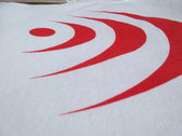 Dust Audio Limited Edition T-Shirt - White / Red Logo photo