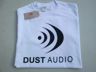 Dust Audio Limited Edition T-Shirt - White / Black Logo main photo