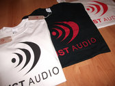 Dust Audio Limited Edition T-Shirt - Black / Red Logo photo
