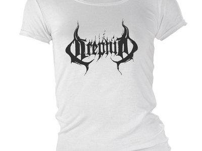 """Logo"" girlie t-shirt white main photo"